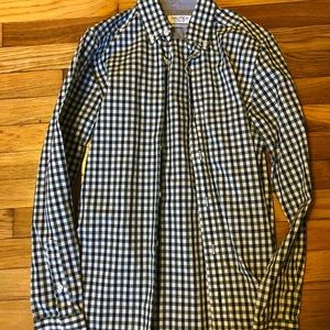 Men's green and black button up from Nautica